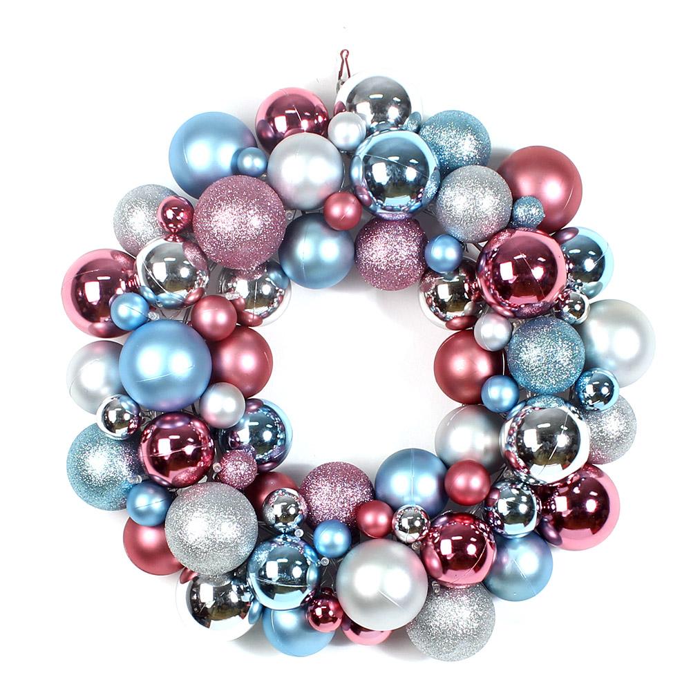 Ornament Christmas ball wreath | Wreaths | Pinterest  |Christmas Ball Wreath