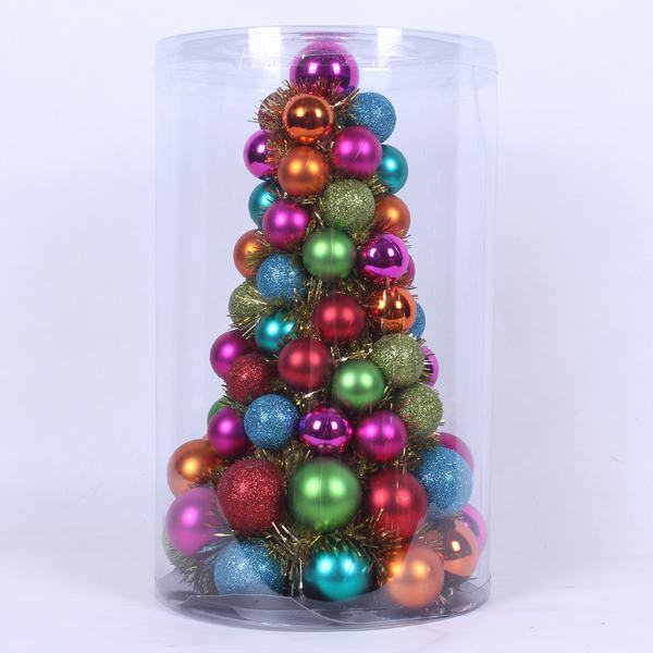 Christmas Tree Ornament Multi Color 30 Cm Height Ball Ng