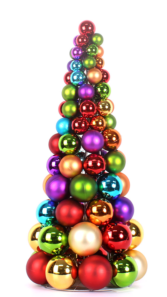 "Make 24"" Decorative Christmas Ball Tree - Christmas ..."