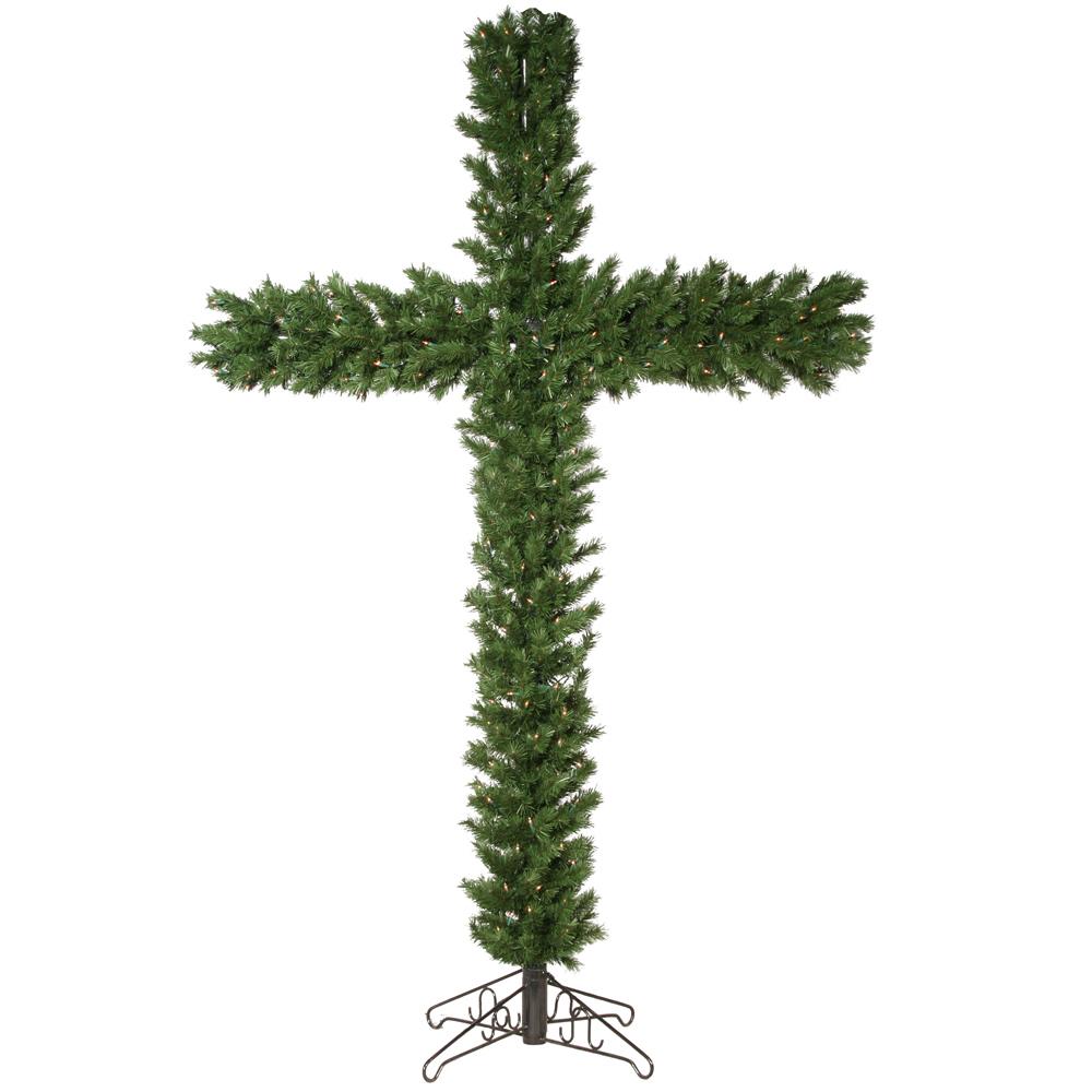 Pre Lit Christmas Cross Tree Christmas Decoration Supplier High