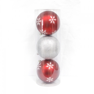 150mm Printed Xmas Decorative Plastic Ball