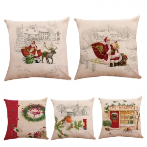 18*18 inch Throw Pillow Case Sofa Indoor xmas Home decoration Christmas Pillows Covers