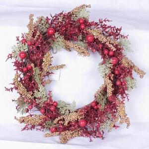 Batterij verlicht de kroon van Kerstmis - Kerst decoratie ...