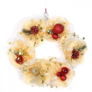 2017 Special Design Organza Christmas Wreath
