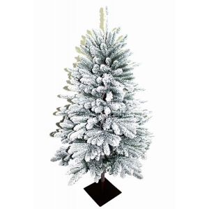 4.5-Ft pre lit christmas entryway tree with pot