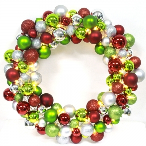 40cm Excellent Quality Christmas Ball Wreath