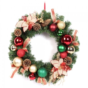 45cm Artificial pine cone christmas door wreaths