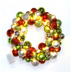 45cm Diameter Wholesale Plastic Christmas Ball Wreath