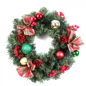 45cm Pine needle wreath for Christmas