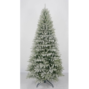 6-Ft pre-lit foldable artificial snow christmas tree