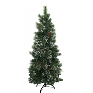 6.5-Ft pre lit crystal pine clear lights christmas tree