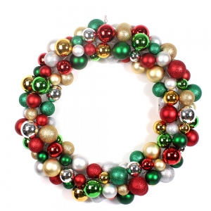 60cm Large Plastic Decorative Christmas Ball Wreath