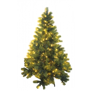 7.5-Ft Pre-lit Pvc Artificial Clear Lights Christmas Tree