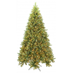 7.5-Ft pre lit lenox quick set pine clear lights christmas tree