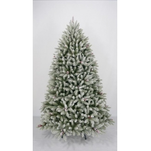 7.5FT LED artificial flocked christmas ficus trees