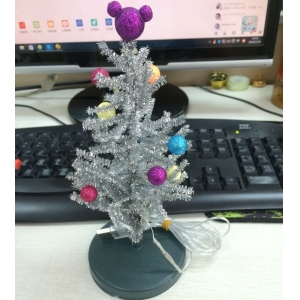 8 inches mini tabletop led christmas tree