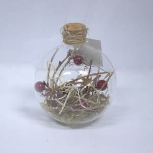 80mm High Quality Xmas Decorated Glass Ball