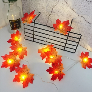 Autumn String Light festival DIY Halloween Decor 1.5m 2m 3m 4m 6m maple leaves led fairy lights for christmas