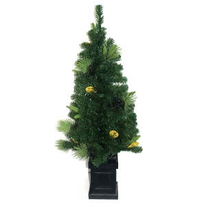 BEST SELLING 4.5' PVC GREEN ENTRYWAY TREE WITH CLEAR LIGHTS
