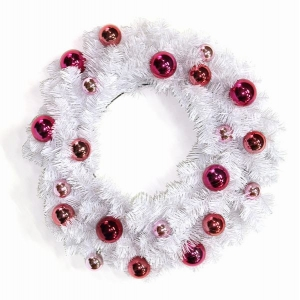 Battery operated decorated outdoor christmas ball wreaths
