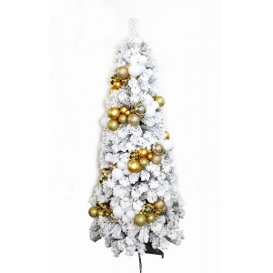 Bethlehem Lights 6.5' Hudson Flocked Christmas Tree