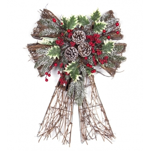 Bow shaped christmas hanging ornaments