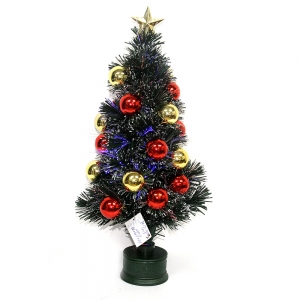 Christmas decoration supplier Outdoor lighted twig holiday time musical fiber optic christmas tree