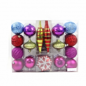 Christmas tree decoration hanging ball with PVC box