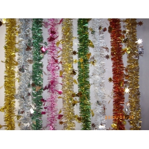 Colorful Christmas Tinsel Garland