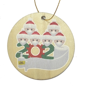 DIY Personalized Family decoration gift Hanging christmas 2020 wooden Quarantine ornaments