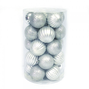 Decorating shatterproof plastic hanging Christmas ball set