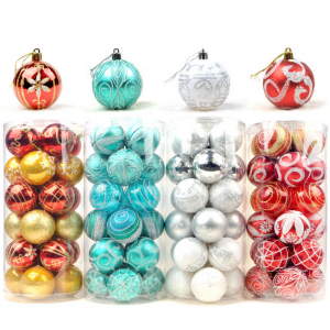 Decorative printed plastic Christmas ornaments Ball