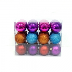 Delicate Hot Selling Plastic Christmas Ball Set