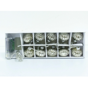 Durable Decorative Lighted Glass Ball Ornaments