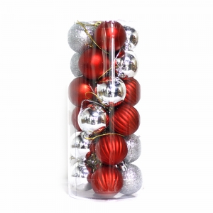 Durable shatterproof Christmas plastic ball decoration