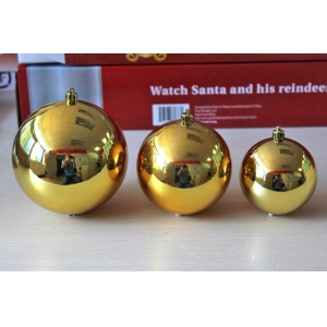 Excellent Quality Shiny Gold Plastci Xmas Ball