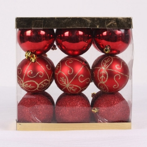 Fashionable Painted Shatterproof Christmas Plastic Ball