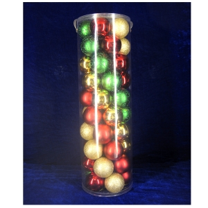 Fashionable and Salable Xmas Bauble Ornament Tube