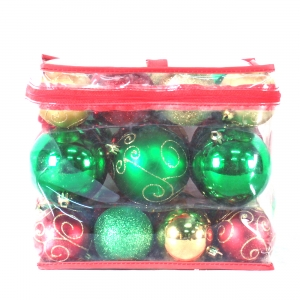 Fashionable decoration Shatterproof plastic Christmas Tree Ornaments ball Set