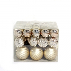 Fashionable hot selling plastic Christmas ball decoration set