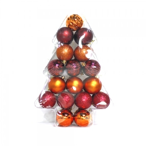 Fine quality Christmas plastic decorative hanging ball
