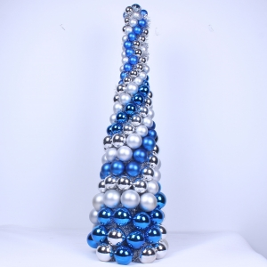 Handmade Christmas Tree with christmas balls for Holiday or Home Decorations