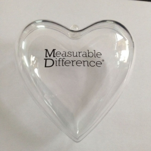 Heart Shape Plastic Hanging Openable Ornament