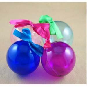 High quality luxury colored plastic clear open ball