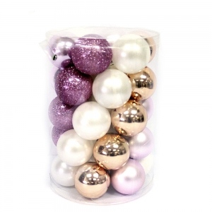 Hot Selling Colorful Christmas Ornament Plastic Ball