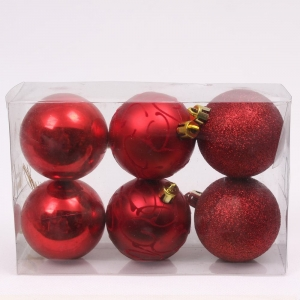 Hot Selling Plastic Christmas Hanging Ball Decoration