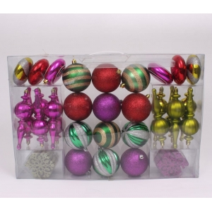 Hot Selling Plastic Christmas Tree Ornament Set