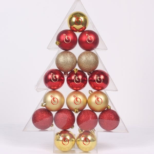 Hot Selling Tree Shape Christmas Ball Set