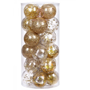 Hot selling popular clear plastic christmas balls