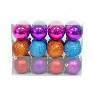 Hot selling wholesale plsatic christmas seamless ball ornament